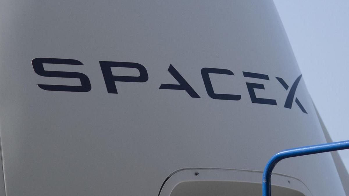 El logo de SpaceX.