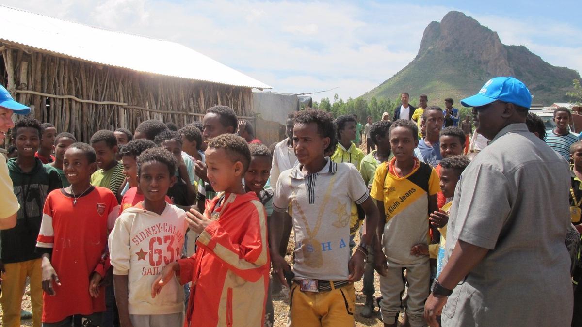Campo de refugiados en la región de Shire (norte de Etiopía)