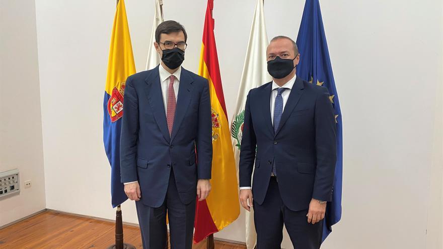 Hidalgo recibe al Secretario de Estado para la UE