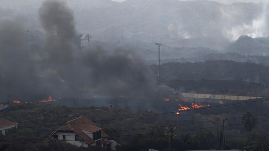 Importantes explosiones y emisiones de lava en el volcán de La Palma