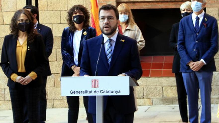 """Aragonès fa una crida a treballar """"plegats"""" i a """"recuperar l'esperit de l'1-O"""" per fer la independència"""