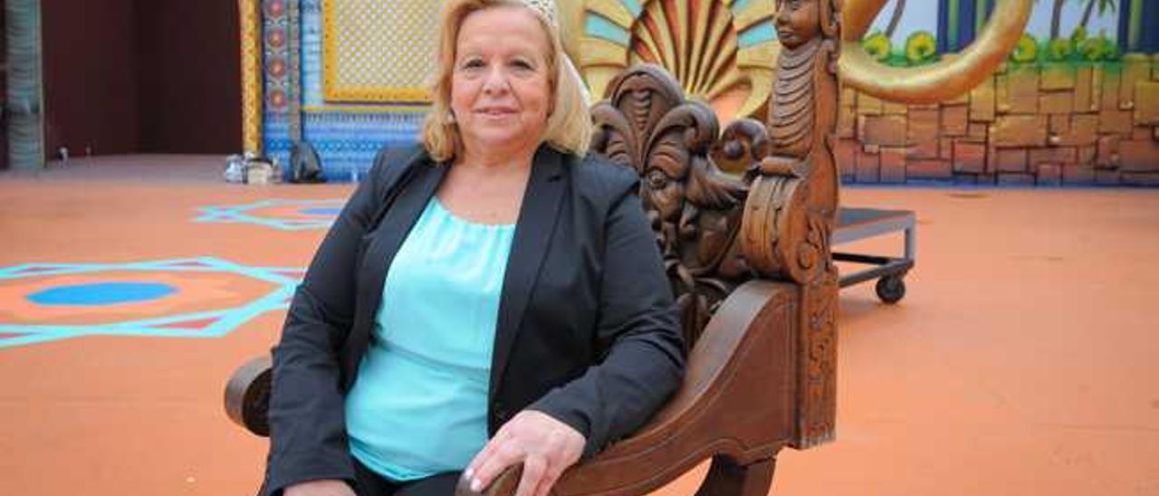 Leonor Morera Santana, ayer en el escenario del parque Santa Catalina.