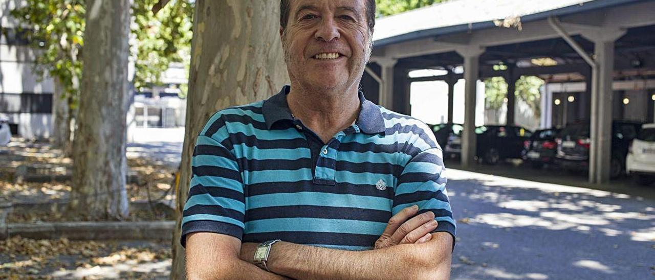 Germán Molina, nuevo presidente de Bosc Primigeni Xàtiva, ayer por la tarde.