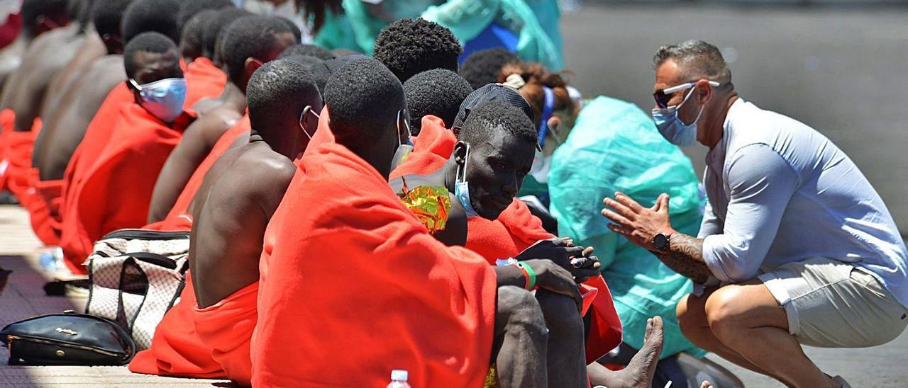 Imagen de agosto de la llegada a El Hierro de un cayuco con 117 personas que partió de Senegal .  