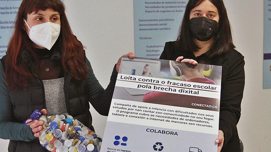"""""""No puedo comprar el  ordenador escolar a mi hijo"""":  17 familias de Ourense piden ayuda a Amigos de Galicia"""