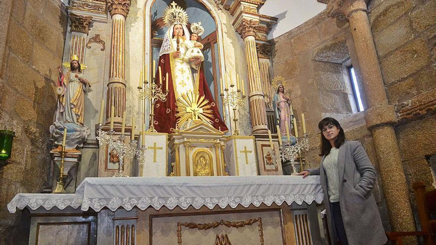 Una tesis doctoral desvela la existencia de un fresco del s. XVI en la iglesia de Caleiro
