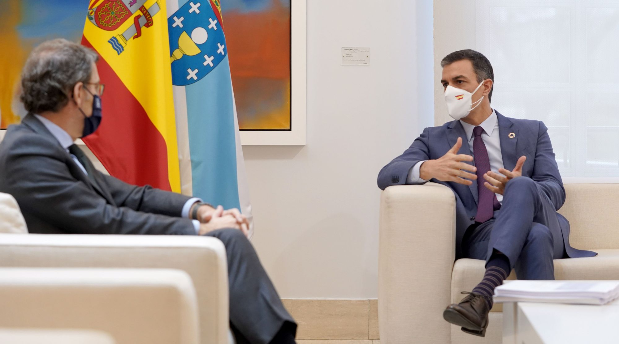 Reunión en Moncloa de Pedro Sánchez y Alberto Núñez Feijóo