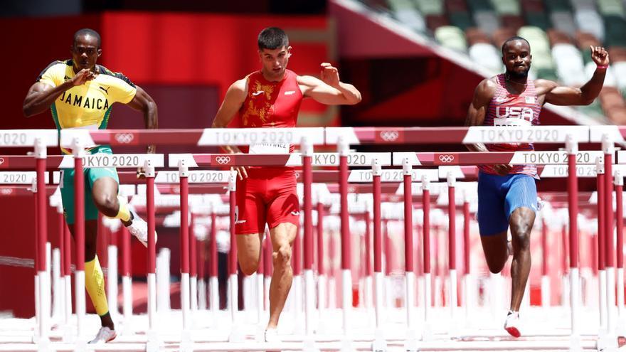 Asier Martínez pasa a la final de los 110 metros vallas