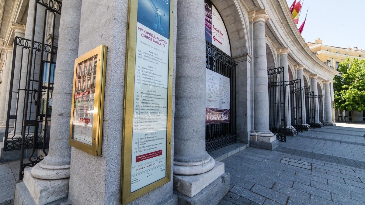 Fachada del Teatro Real de Madrid.