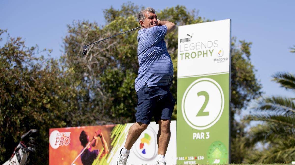 Guardiola, Laporta, Platini y Alemany en el primer día del Legends Trophy de Golf en Son Servera