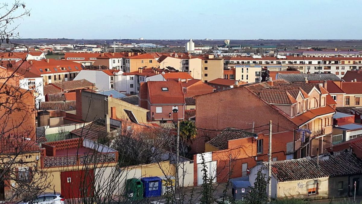 Vista general de parte de Benavente desde la Mota.   E. P.