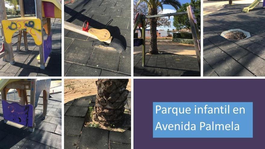 Niños de Xàbia piden a los Reyes Magos que arreglen los columpios de los parques