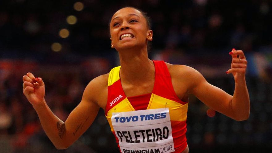 Ana Peleteiro, histórico bronce en triple salto