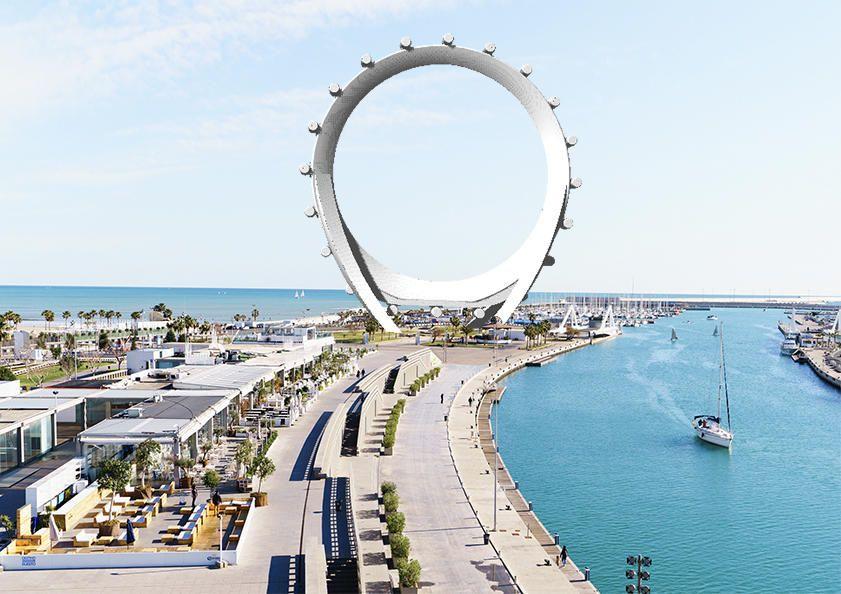 Así es Circular View, la noria gigante que podría tener València