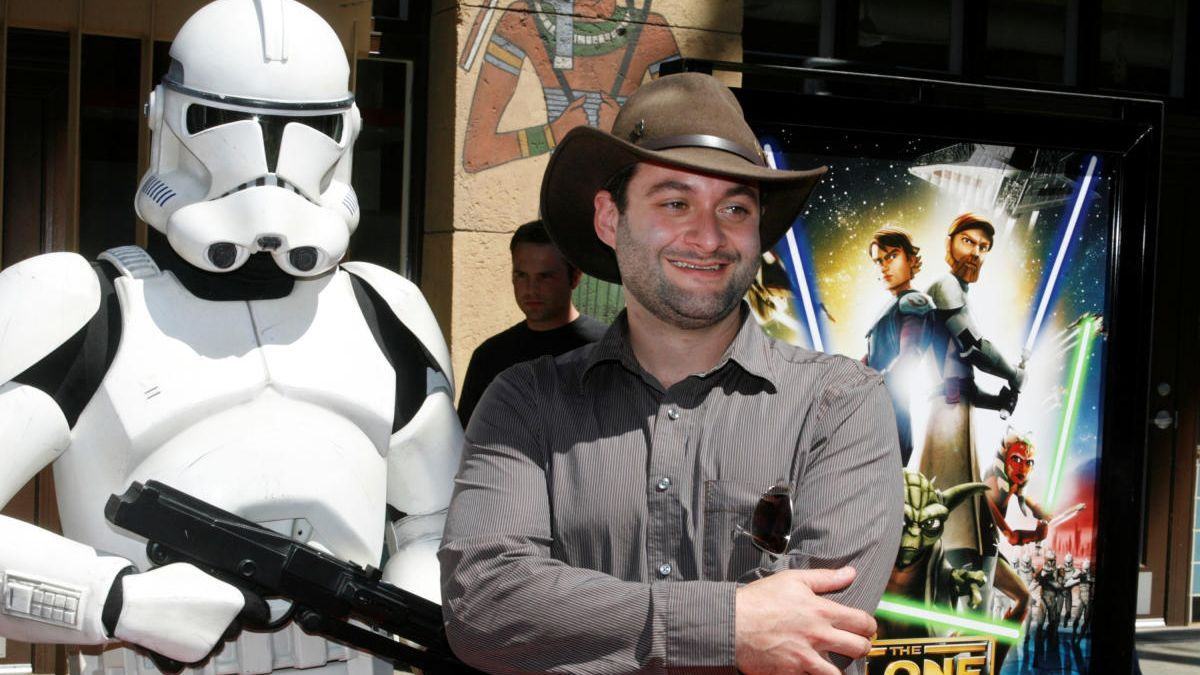 Dave Filoni, en una imagen en la presentación de 'Clone Wars'.