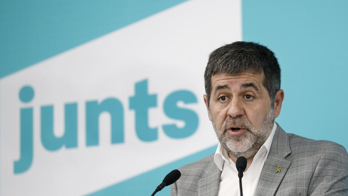 Jordi Sànchez, en una comparecencia de Junts