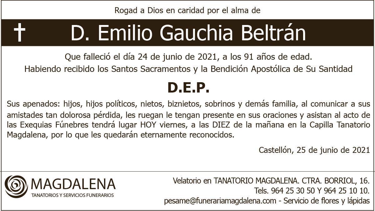 D. Emilio Gauchia Beltrán