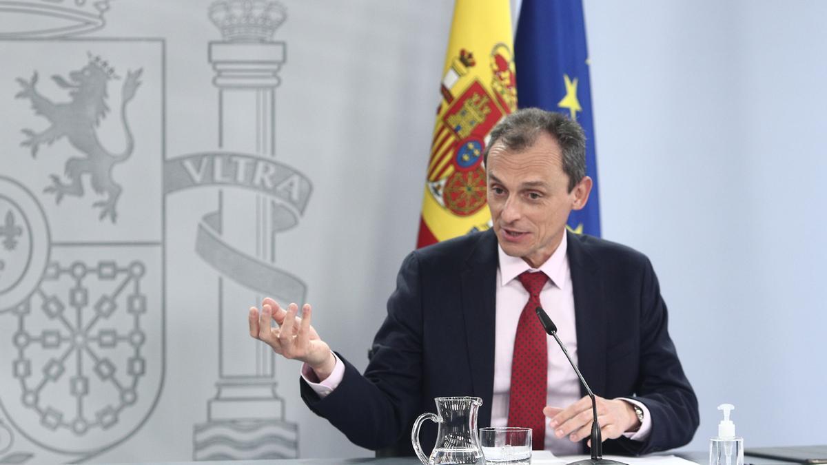 Pedro Duque, en la rueda de prensa tras el Consejo de Ministros