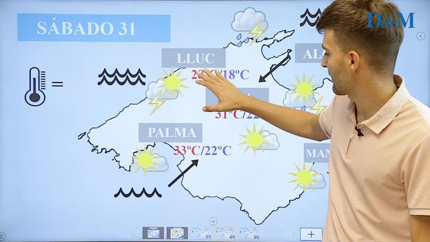 El tiempo del fin de semana en Mallorca: bajón térmico y riesgo de tormentas el sábado