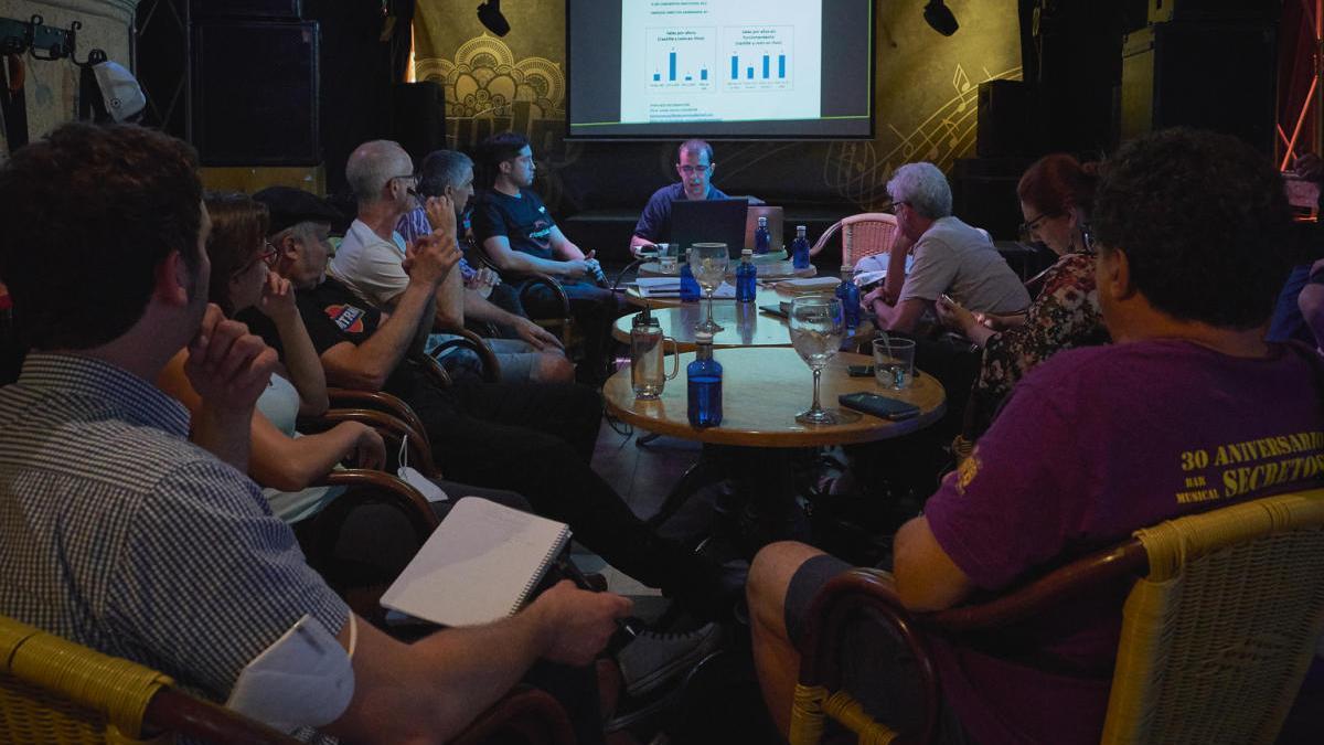 Una imagen del encuentro en la Sala Buda.