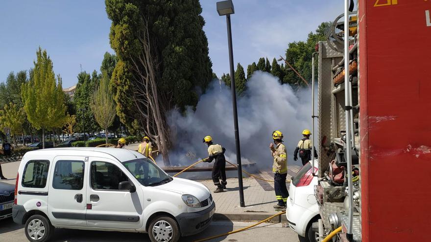 El Parc de les Aigües de Figueres registra dos incendis consecutius