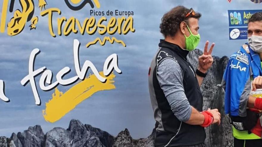 Manu Merillas pulveriza el récord de la Travesera de los Picos de Europa