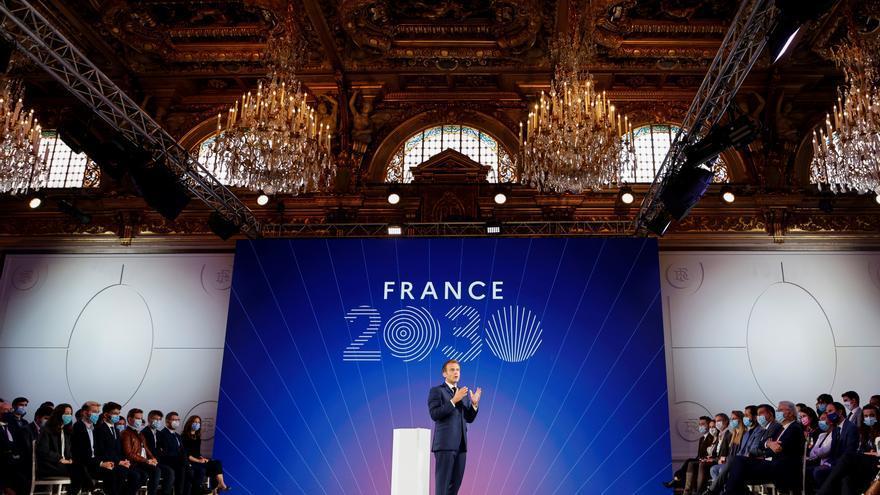 Macron promete 30.000 millones de euros para construir la Francia del futuro