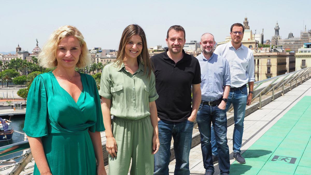 Patricia Pastor (directora general de GoHub), Isabel Giménez (manager GoHub Barcelona), Enric Colomer (IBM), Miquel Martí (Barcelona Tech City) y Jordi Aguasca (Acció).