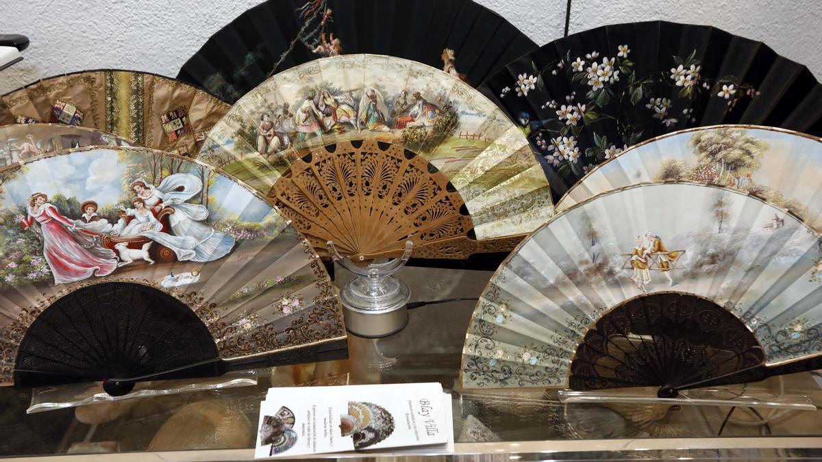 Abanicos artesanales del taller de Blay y Villa de Aldaia.