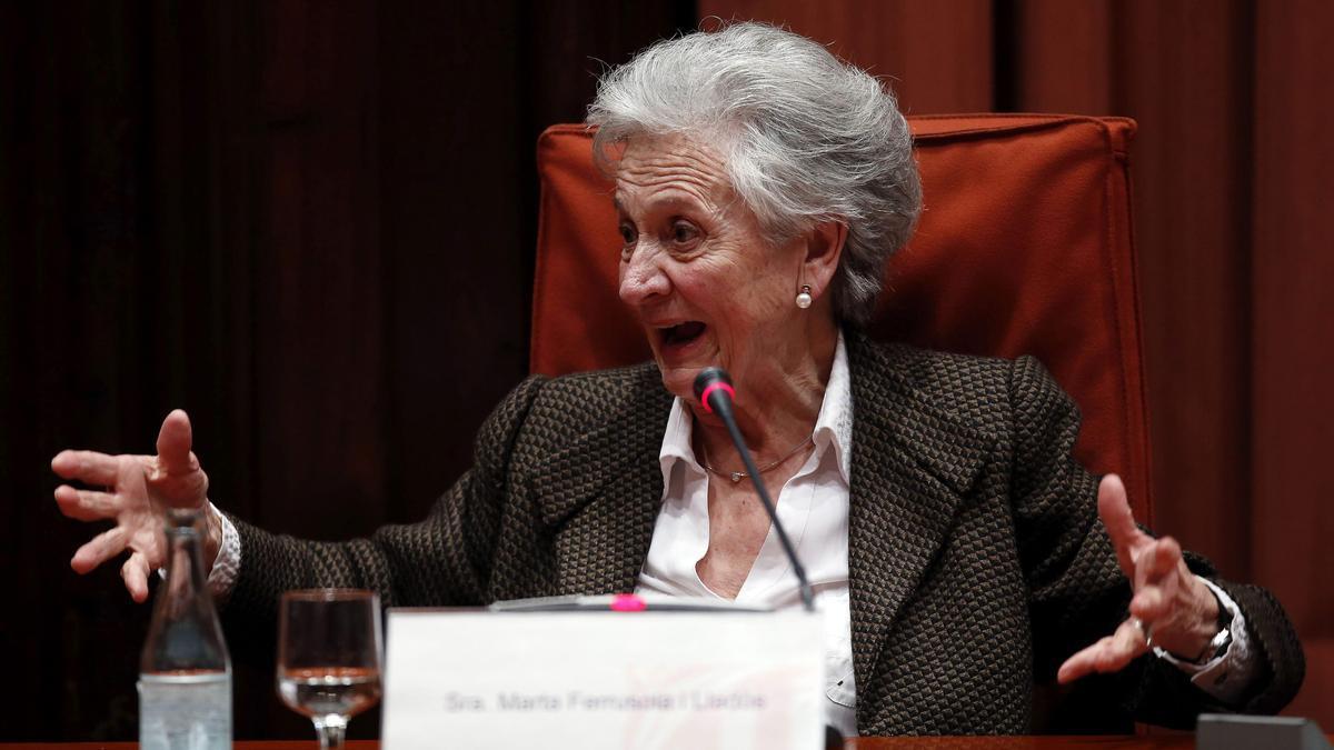 La esposa del expresidente catalán Jordi Pujol, Marta Ferrusola.