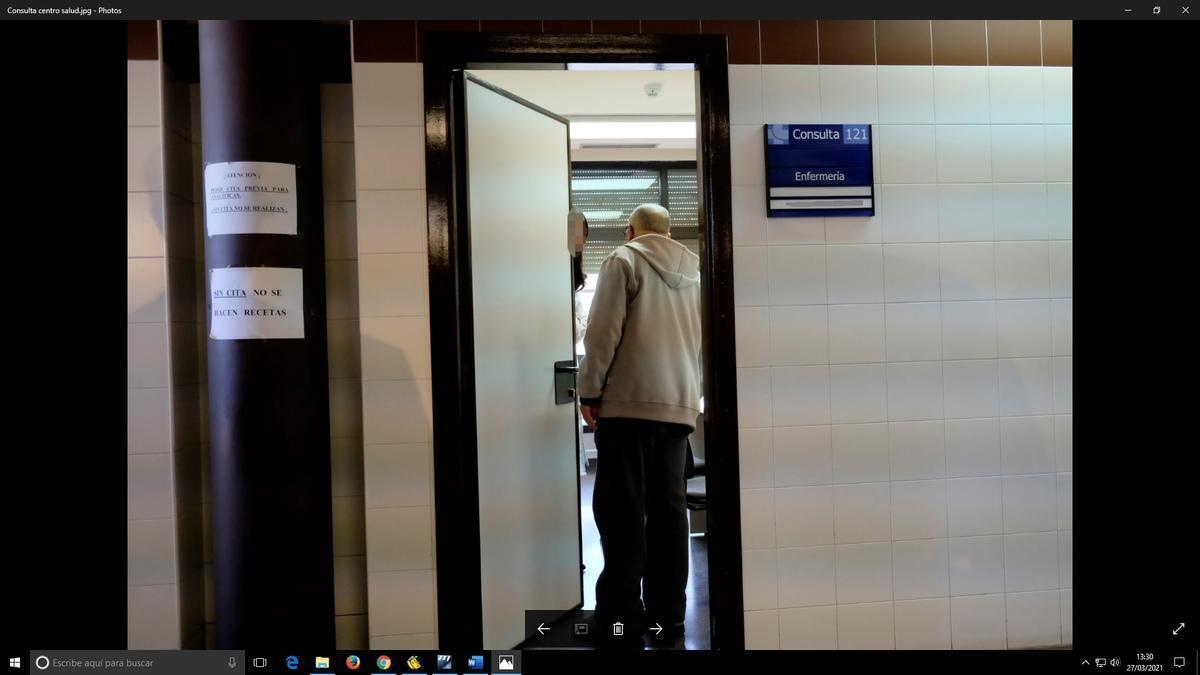 Consulta en un centro de salud
