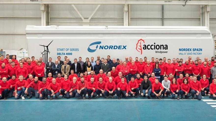 Nordex fabrica en la Vall d'Uixó uno de los aerogeneradores más grandes del mundo