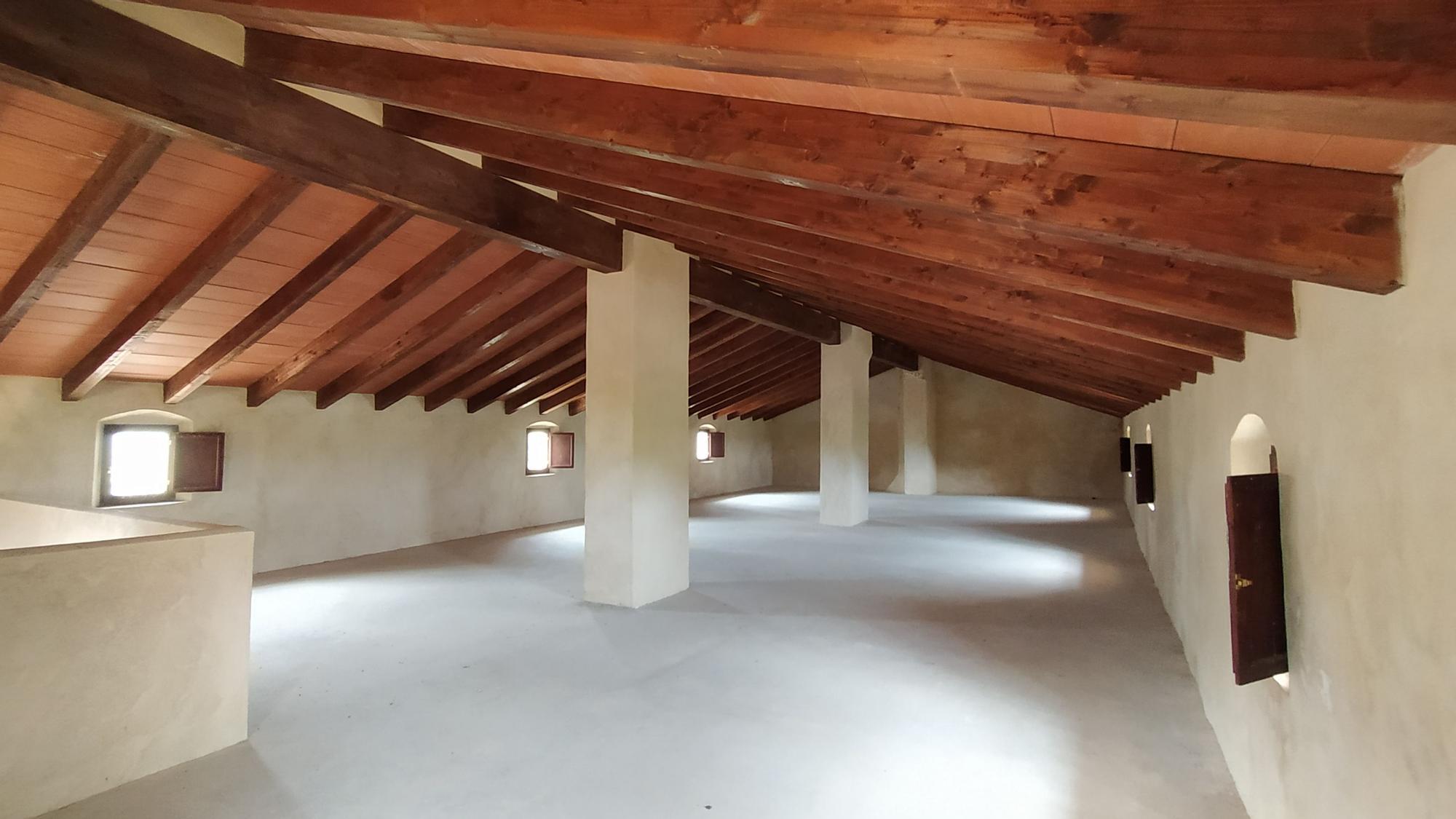 La parte superior, donde se construirán cuatro habitaciones para convertirla en albergue
