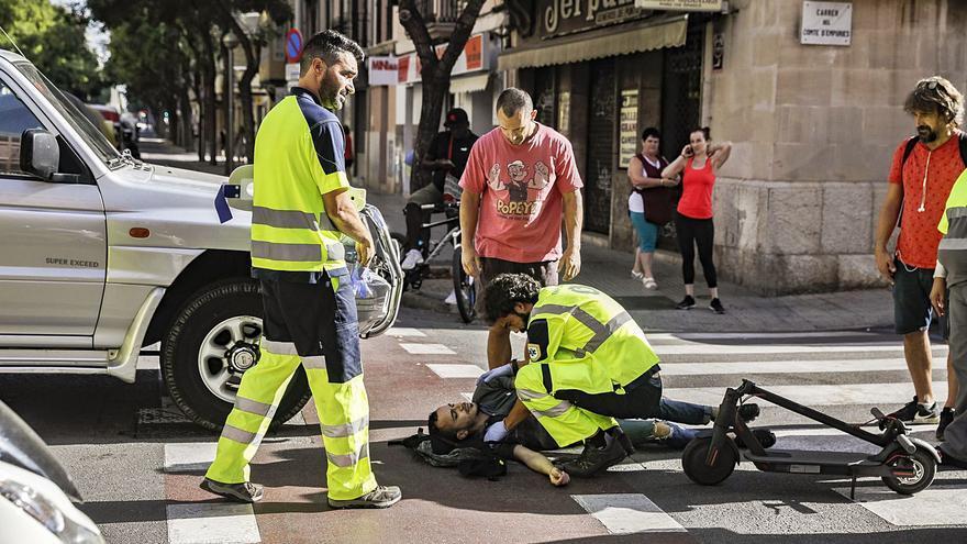 Casi 90 personas heridas en Palma en accidentes de patinete