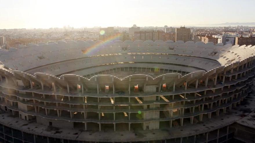 Nuevo Mestalla: diez años de la mole de hormigón