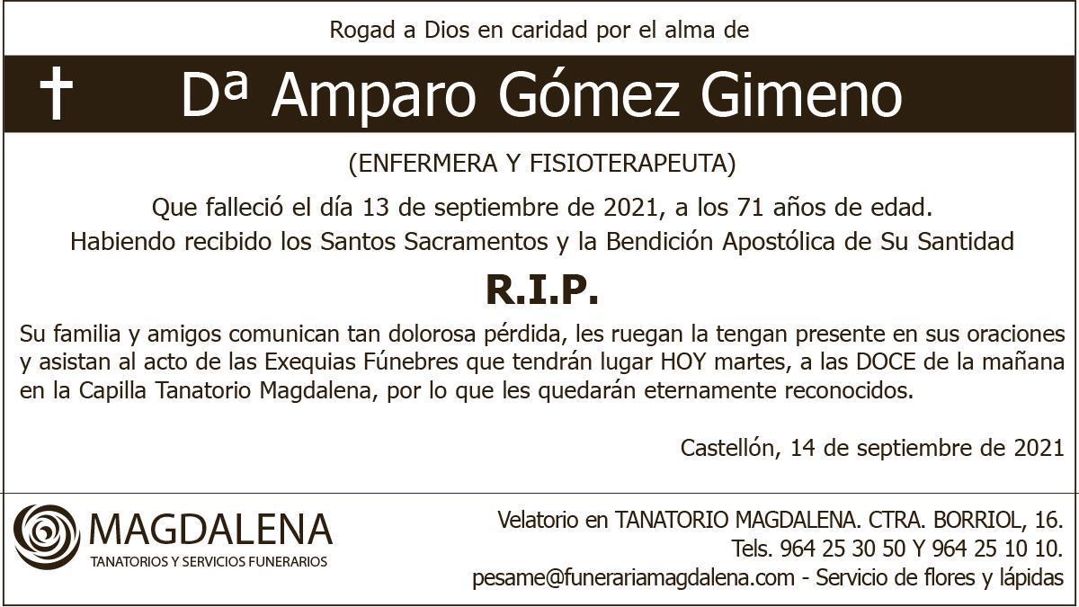 Dª Amparo Gómez Gimeno