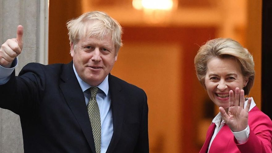 """Johnson y Von der Leyen prometen """"redoblar esfuerzos"""""""