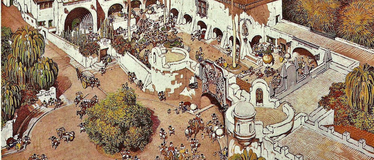 Diseño del Pueblo Canario realizado por Néstor.