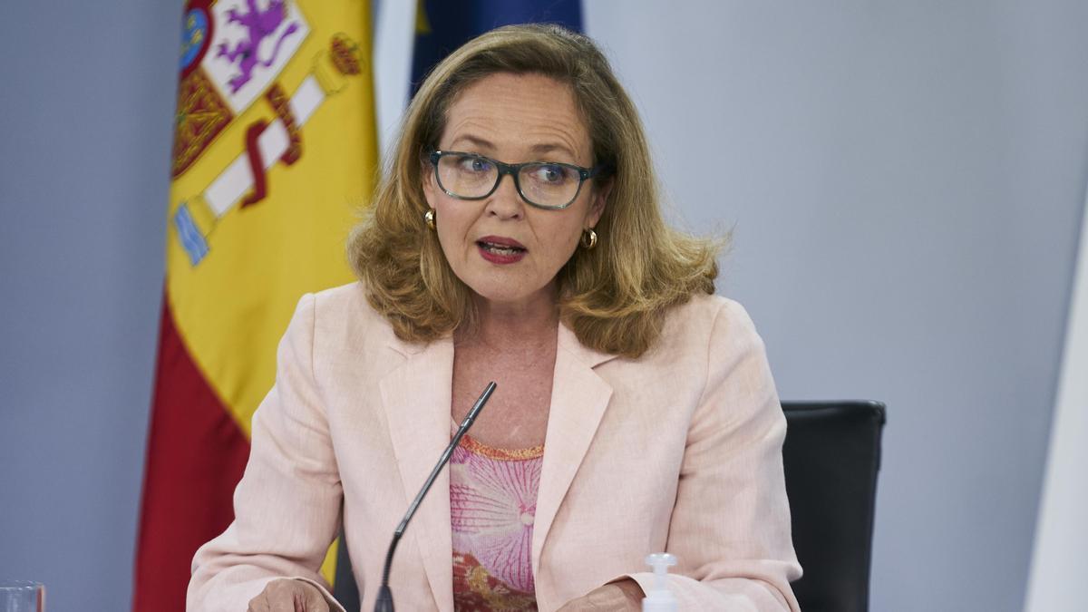 La vicepresidenta segunda y ministra de Asuntos Económicos y Transformación Digital, Nadia Calviño.