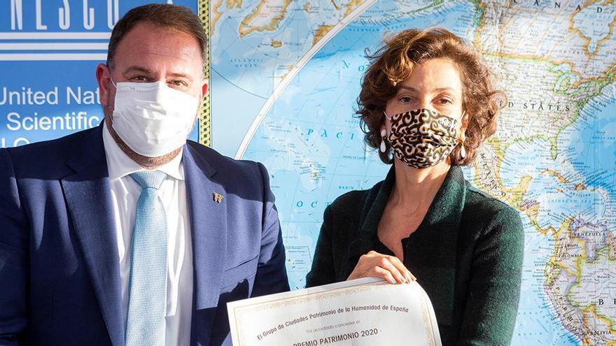 Premio Patrimonio a la directora de la Unesco, Audrey Azoulay