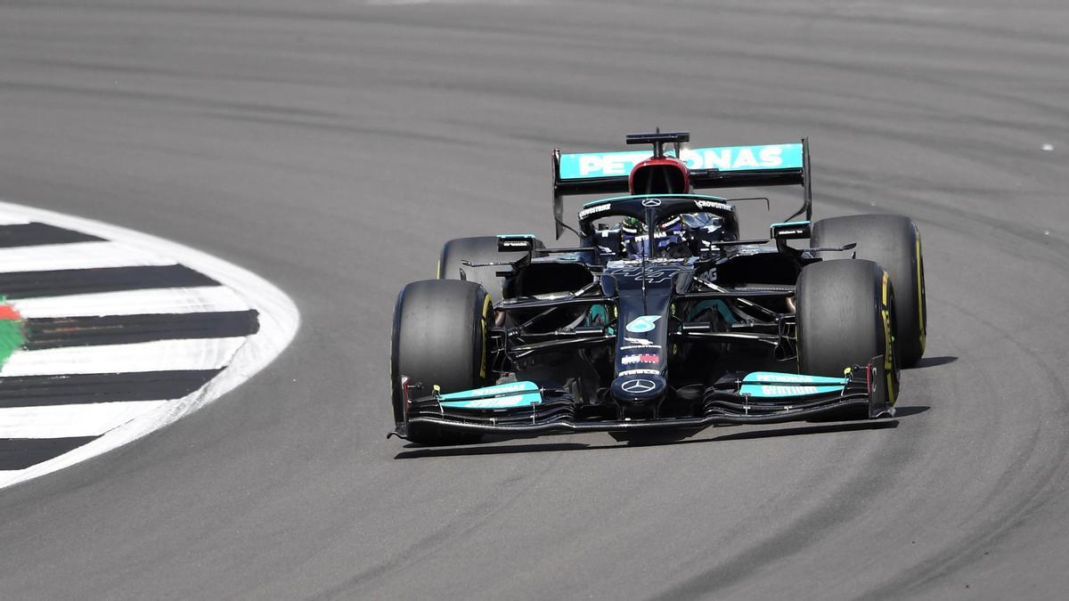 Lewis Hamilton, en el circuito de Silverstone.