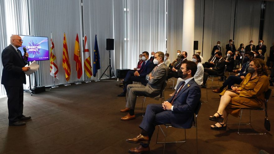 El Rei, Sánchez i Aragonès inauguren junts el Mobile