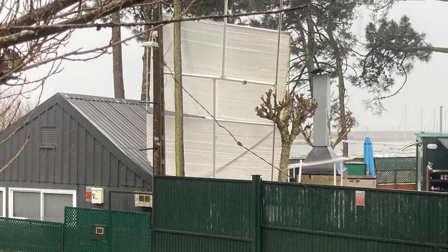"""""""Karim"""" causa desprendimientos en fachadas de Vilagarcía y O Grove"""