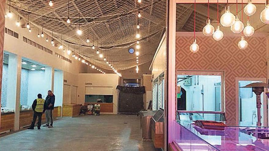 El mercado municipal de abastos de Pontecesures ya luce su remozada y confortable imagen