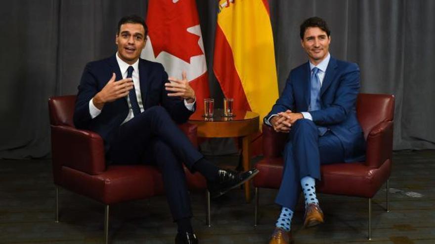 """Sánchez pone a Quebec como un ejemplo de """"soluciones políticas"""" para Cataluña"""