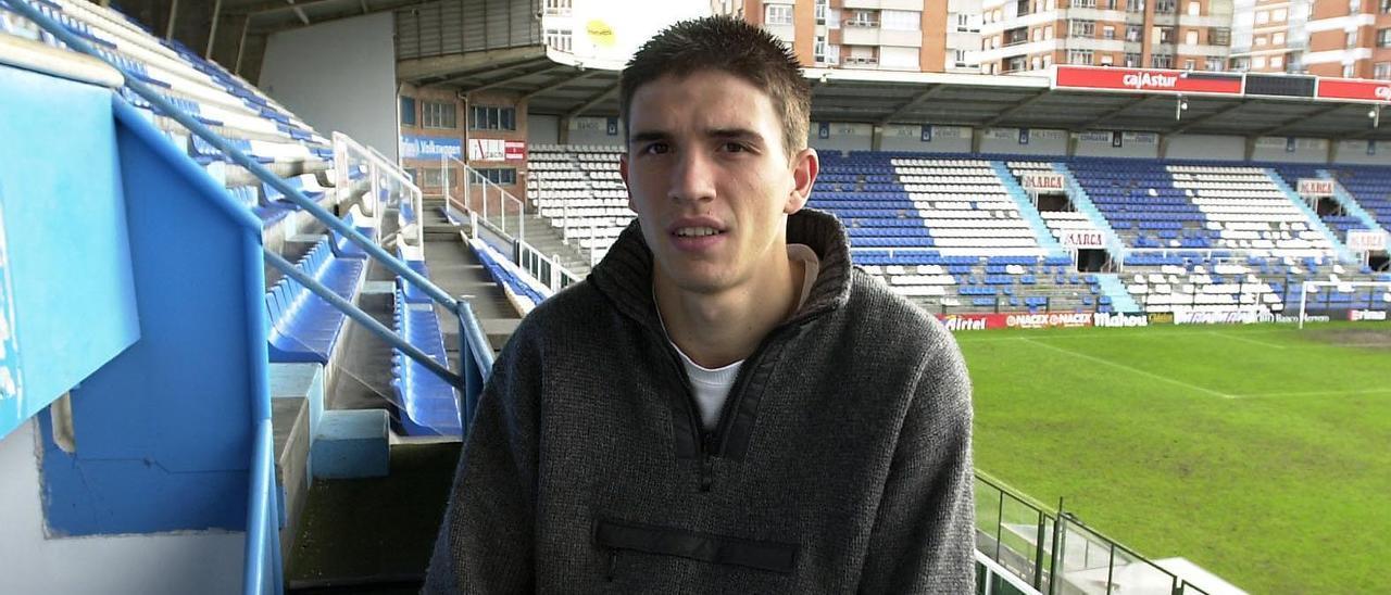 Rubén Reyes, en el antiguo Tartiere