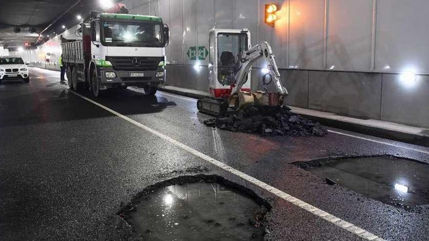 Cortes de tráfico en el túnel de O Parrote por las obras de reparación que arrancan hoy