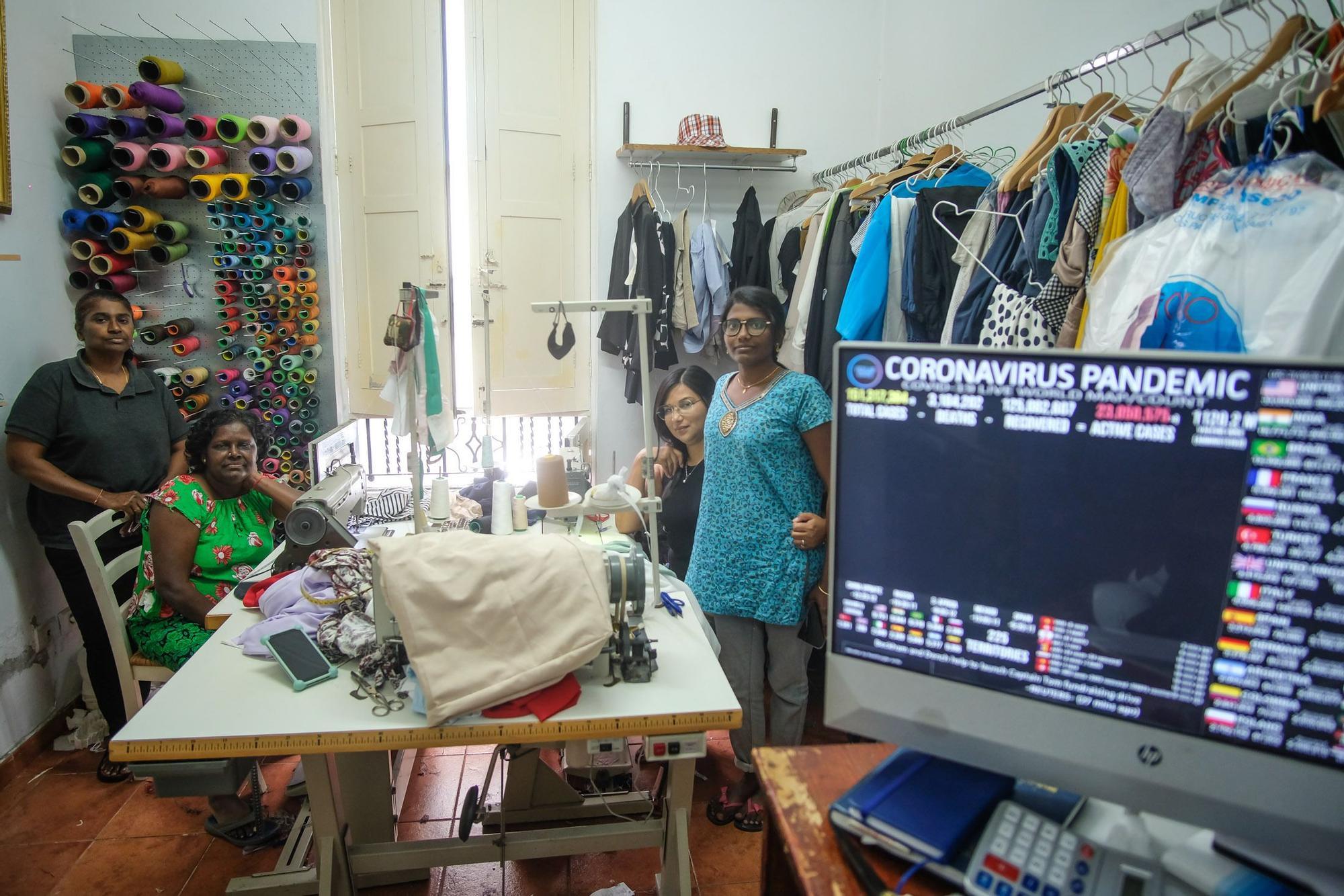 Taller de costura en la calle Perdomo
