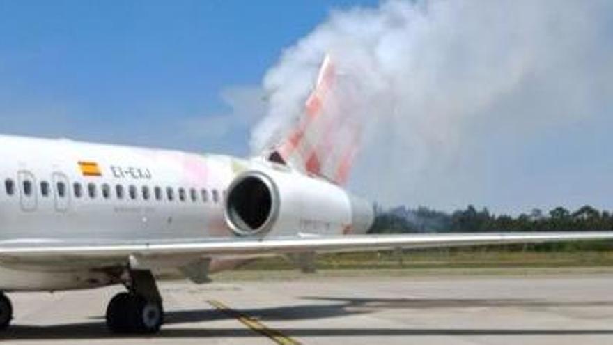 Alarma por una explosión en un avión en Asturias