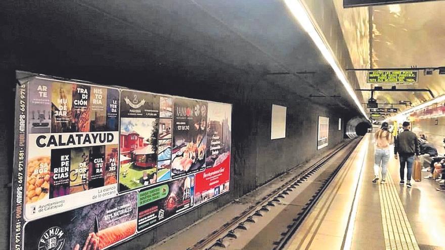 Calatayud se promociona hasta octubre en el metro de Barcelona